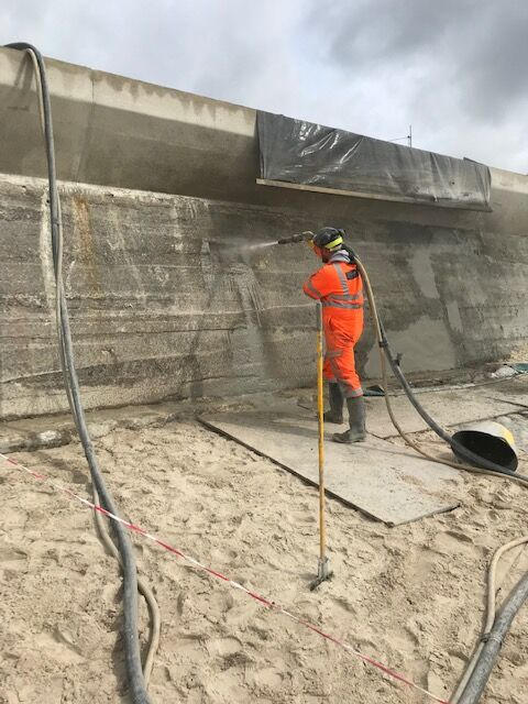 Sea Wall Concrete Dry Spray Repairs